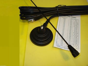 MAG MOUNT ANTENNA - BLACK DELUXE - BNC - FOR MARINE & AMATEUR 144 -174 MHZ
